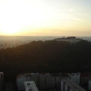 Pohled na ranní Brno (17.8. 2009)