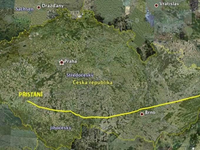 Rekordní přelet České republiky