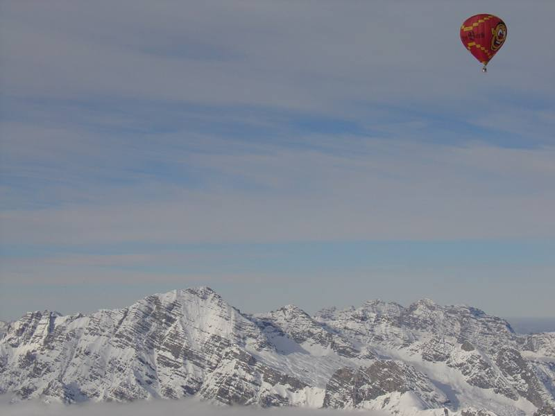 Přelet přes Vysoké Taury (Hohe Tauern)